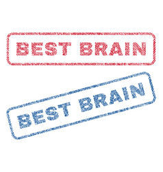 best brain textile stamps vector image