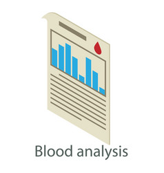 Blood test icon isometric style vector