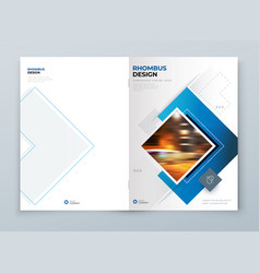 Blue cover template layout design corporate vector