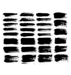 Brush strokes set 1 vector