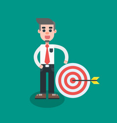 businessman hit the target with arrow vector image