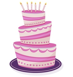 cake on isolated background vector image
