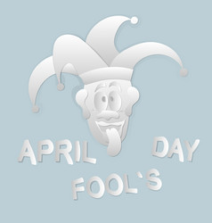 celebrating april fools day vector image