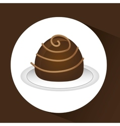 chocolate sugar desert vector image