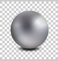chrome matt metal ball realistic isolated vector image