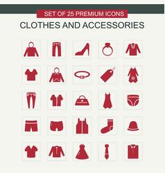 cloths icosn set vector image