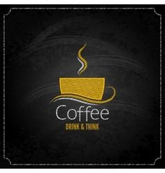 Coffee cup chalk label concept menu vector