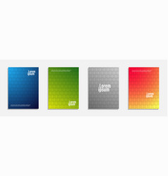 colorful and modern cover design set of geometric vector image