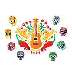 colorful mexican pattern traditional ethnic vector image