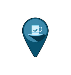 cup of coffee point image vector image
