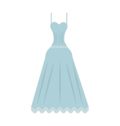 cute wedding dress icon vector image