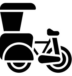 Cycle rickshaw icon transportation related vector