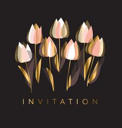decorative tulip flowers vector image
