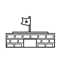 Design building and mausoleum logo vector