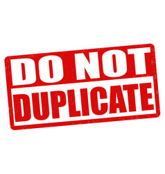 Do not duplicate stamp vector
