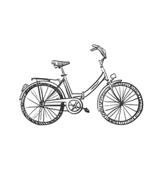 doodle bicycle vector image