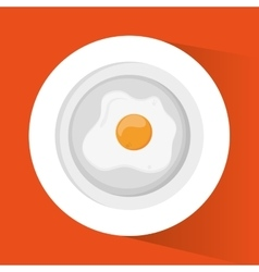 Egg and breakfast design vector