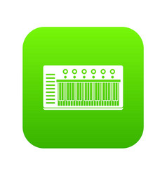 electronic synth icon digital green vector image