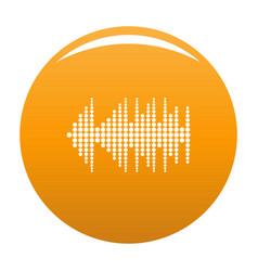 Equalizer effect radio icon orange vector
