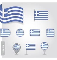 Flag greece vector