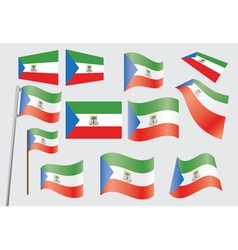 flag of Equatorial Guinea vector image