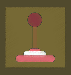 Flat shading style icon joystick vector