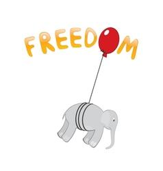 Freedom Elephant vector image