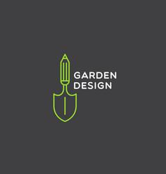 Garden design logo vector
