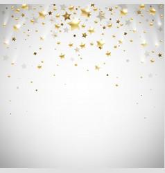 golden falling stars vector image