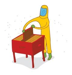 Honey harvest time vector