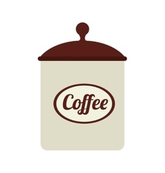 icon coffee bowl isolated vector image