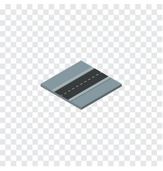 Isolated road isometric path element can vector