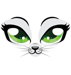 Kitten face vector