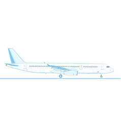 Large jet airliner isolated on white vector