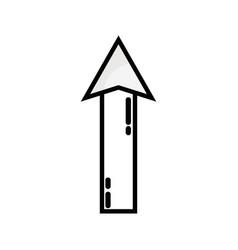 Line web arrow up load icon vector