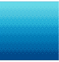 marine knitted seamless pattern with gradient vector image