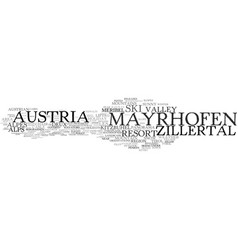Mayrhofen word cloud concept vector