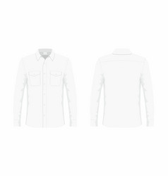 Mens white dress shirt vector