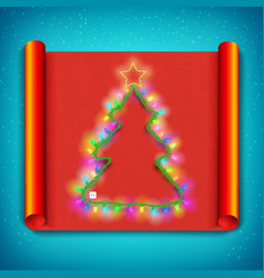 merry christmas curved paper template vector image