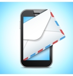 Mobile Phone and Letter vector image