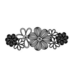 Monochrome minimalistic background with floral vector