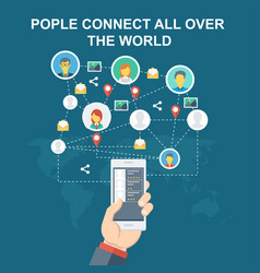 Peoples connect all over the world vector