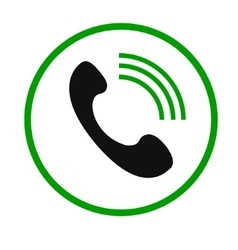 Phone Call icon2 vector image