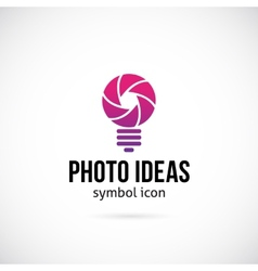Photo Ideas Concept Symbol Icon or Logo Template vector