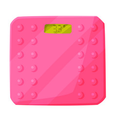 pink floor scales fitness and sports equipment vector image