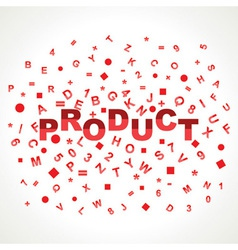 Product word with in alphabets vector image