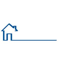 Real estate logo house on white stock vector