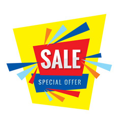 sale banner special offer vector image