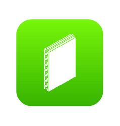 Sandwich panel icon green vector