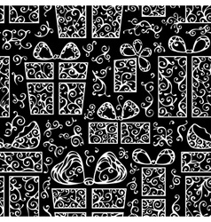 Seamless festive pattern vector